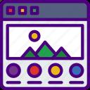 app, computer, development, portfolio, web icon