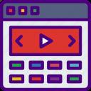 app, computer, development, slider, video, web icon