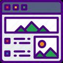 app, computer, development, picture, showcase, web icon
