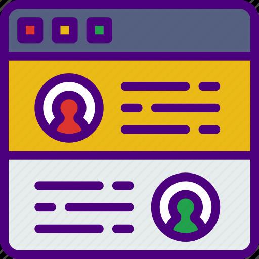 app, computer, development, testimonials, user, web icon