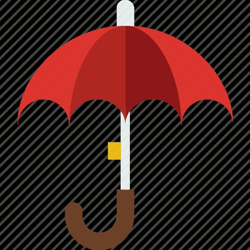 forecast, rain, sun, umbrella, weather icon
