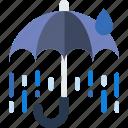 broken, forecast, rain, sun, umbrella, weather