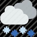 sun, weather, forecast, rain, snowy