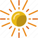 forecast, rain, sun, weather icon