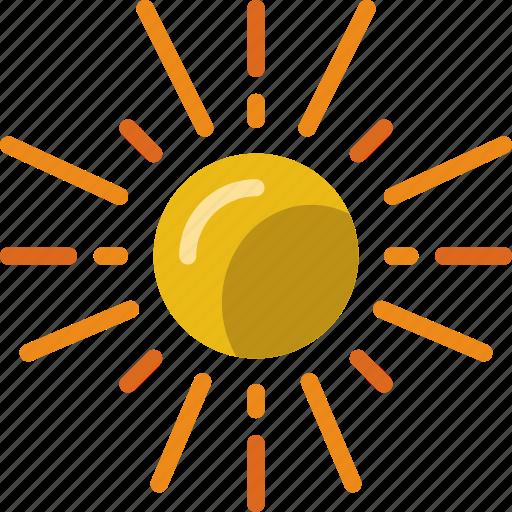 forecast, rain, sun, weather icon