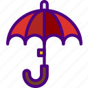 forecast, rain, sun, umbrella, weather icon