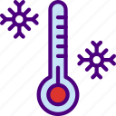 forecast, low, rain, sun, temperature, weather icon
