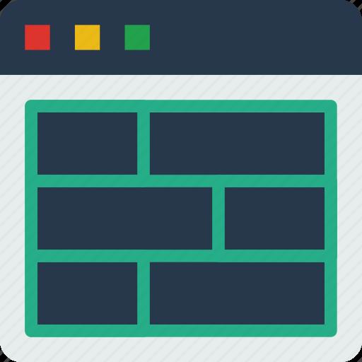 grid, internet, seo, web, work icon