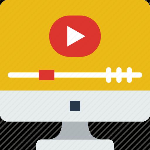 internet, player, seo, video, web, work icon