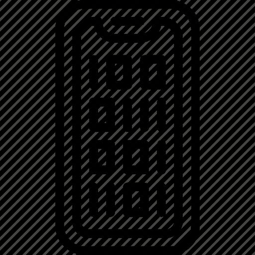binary, code, internet, seo, web, work icon