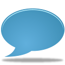 bulb, chat, talk icon
