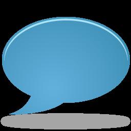 bulb, chat, talk icon