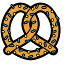 auntie, bake, cookies, food, pastries, pretzel, snack icon