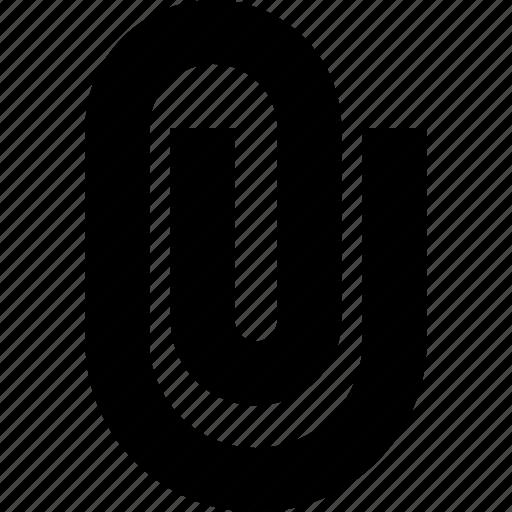 attach, attached, attachment, file, paperclip icon