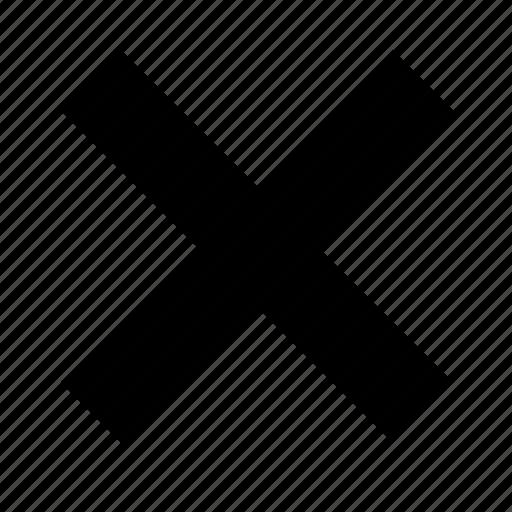 clear, close, cross, delete, exit, remove, x icon