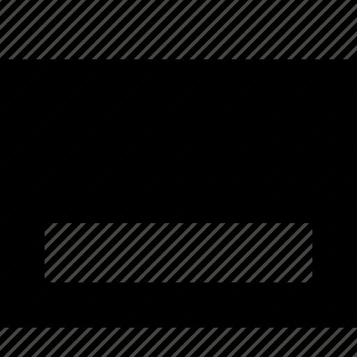 align, alignment, bottom, dock, layout, ui icon