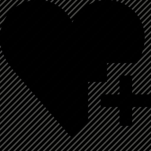 add, favourite, heart, like, valentine icon