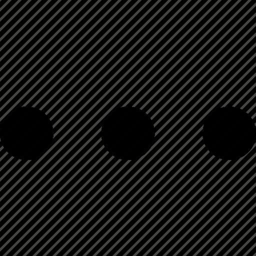 dots, info, menu, more, options, settings icon