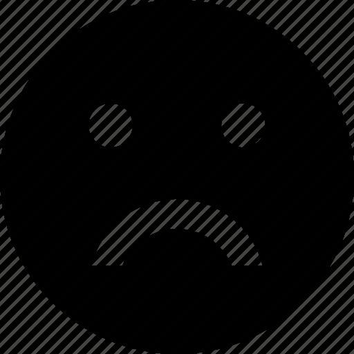 disappointed, emoji, emoticon, expression, feeling, sad, unhappy icon