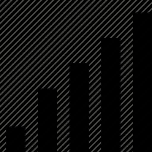 analytics, bar, chart, growth, signal, stats, ui icon
