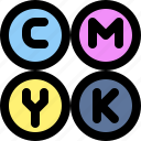 cmyk, color, mode, print icon