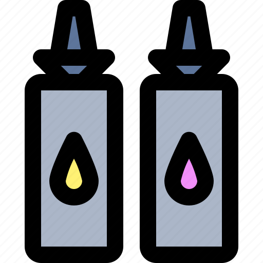 bottle, ink, paint, refill icon