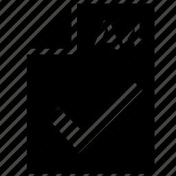 a4, accept, format, list, ok, paper, printer icon