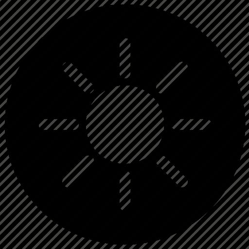 bright, function, ink, label, print, printer, round icon