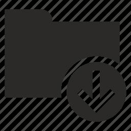 download, file, folder, operation icon