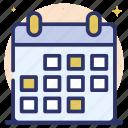 calendar, datebook, daybook, planner, yearbook icon