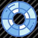 circular, colour, palette, target icon