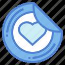 design, heart, printer, sticker icon