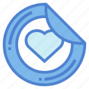design, heart, printer, sticker