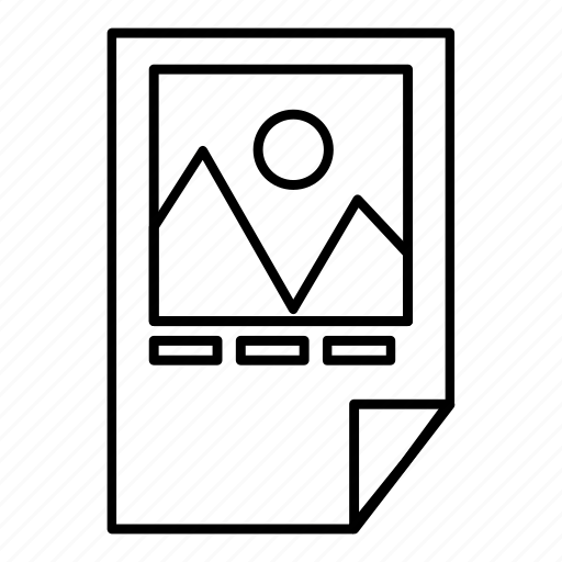 computer, equipment, ink, line, outline, paper, printer icon