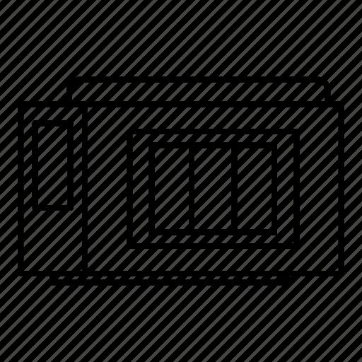 cartridge, cmyk, line, outline, paint, press, printer icon