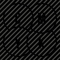 cmyk, line, outline, paint, palette, press, printer icon