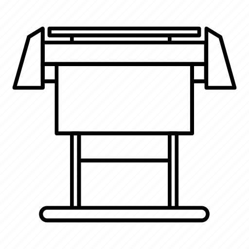 format, large, line, outline, paper, printer, roll icon