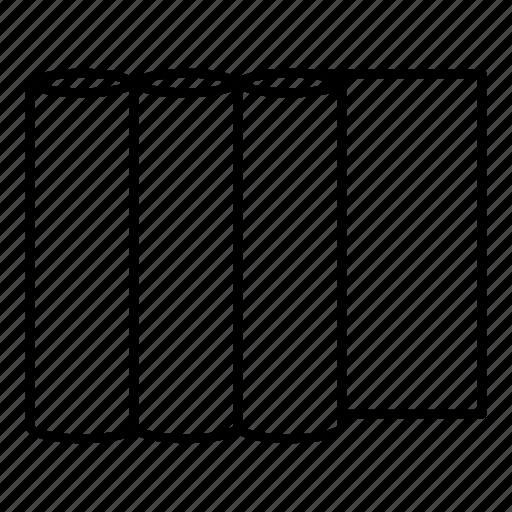 banner, cmyk, line, outline, paper, printer, roll icon
