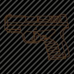 criminal, detective, gun, handgun, investigator, police, private icon