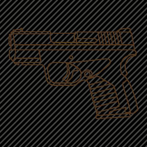 criminal, detective, gun, handgun, investigator, police icon