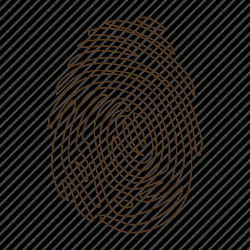 clue, detective, finger print, fingerprint, ink, investigate, trace icon