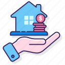 asset, finance, house icon