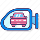 car, following, transport, vehicle icon