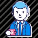 client, male, man icon
