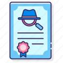 document, licence, paper, pi icon