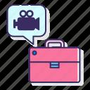 briefcase, camera, spy