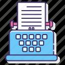machine, typewriter, typing, writing