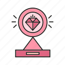 adamant, award, diamond, prize, reward, trophy, value icon