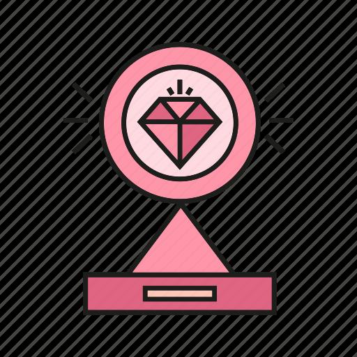 adamant, award, diamond, prize, reward, trophy, value icon