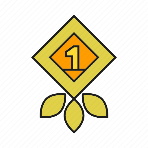 award, one, prize, reward, success, win icon